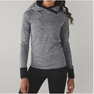 Lululemon Think Fast Hoodie Space Heather Gray 10